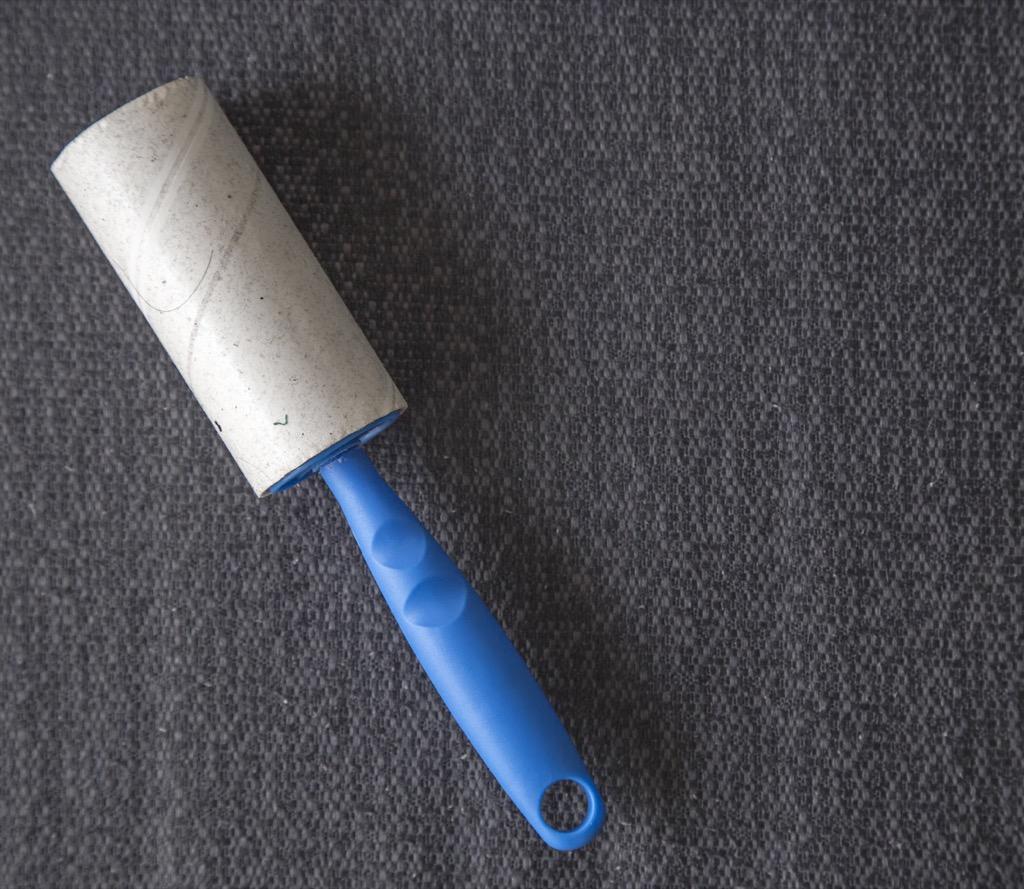 Sticky lint roller
