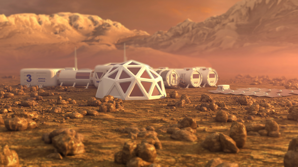 Mars Colony Life in 200 Years