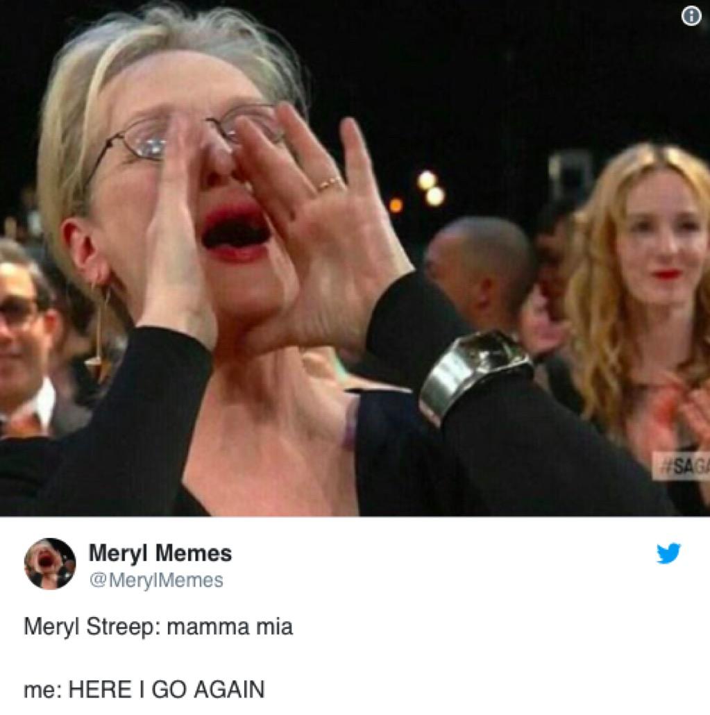 Meryl cheering