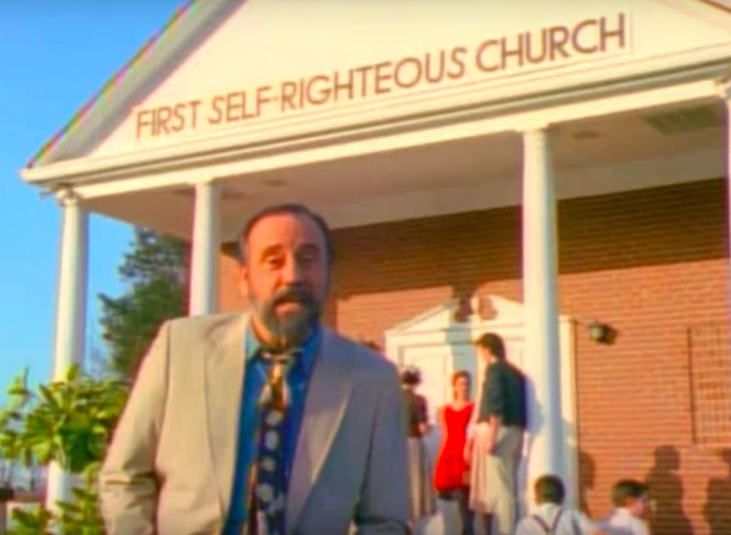 Ray Stevens outside a church