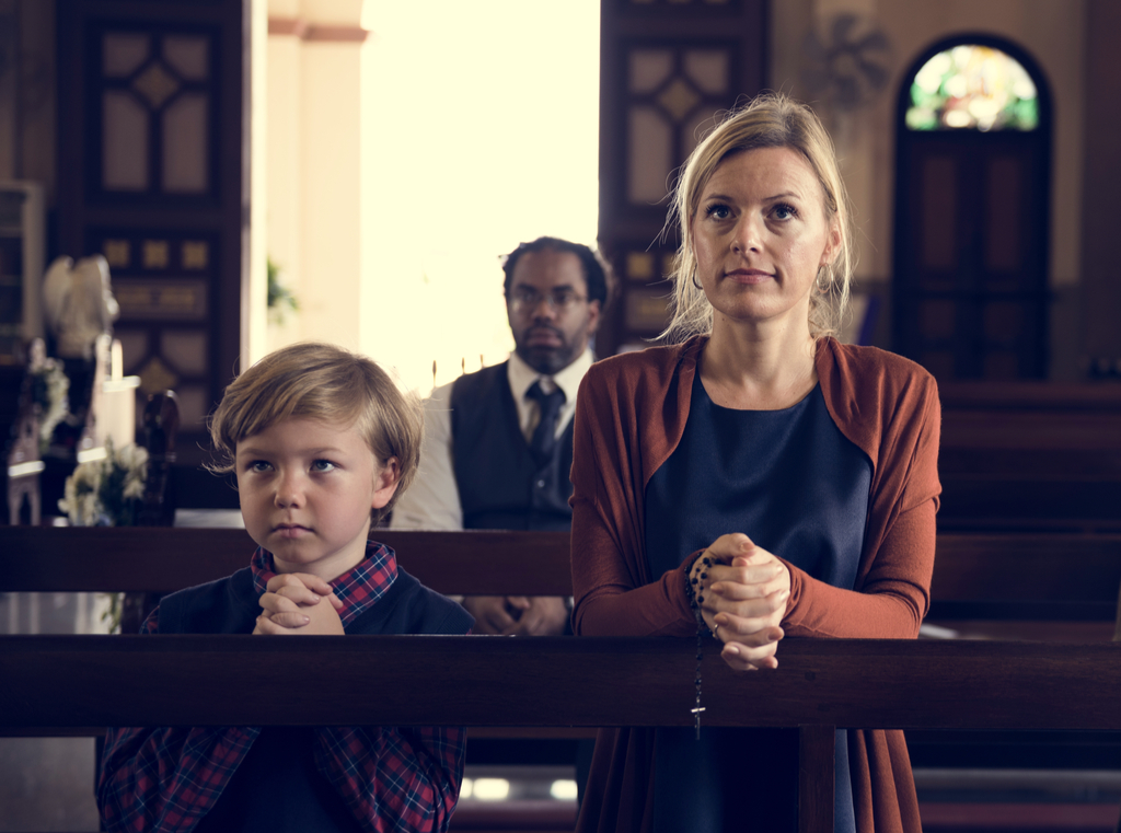 Mother and Son in Church Parenting