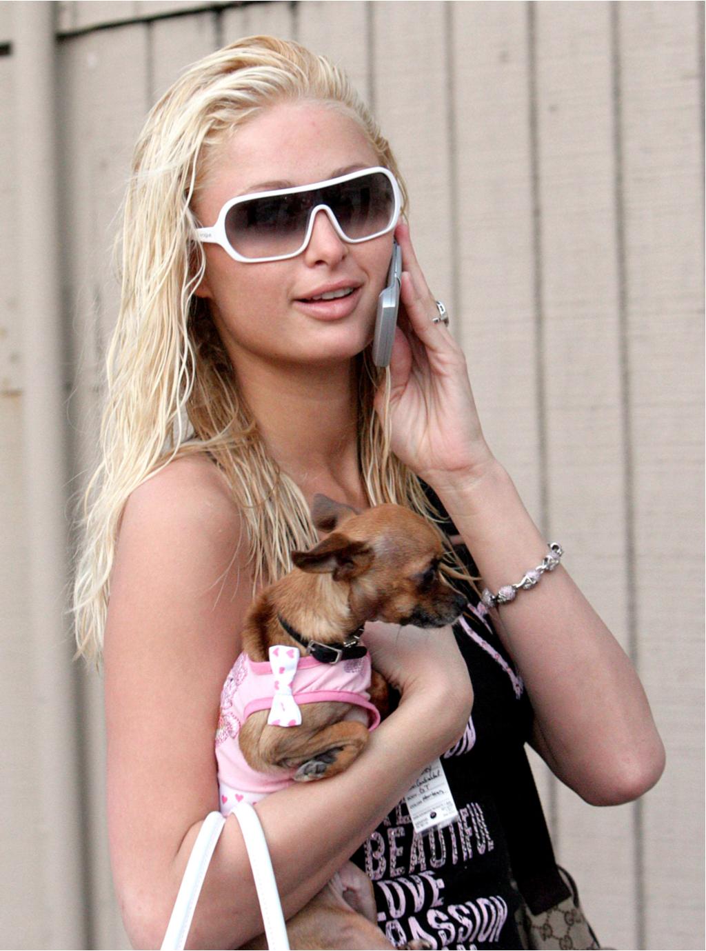 Paris Hilton and Dog Tinkerbell