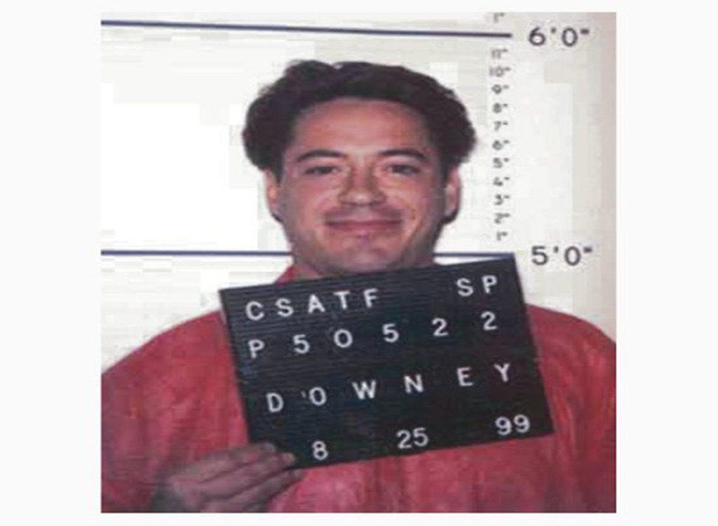 Robert Downey Jr funny celebrity mugshots