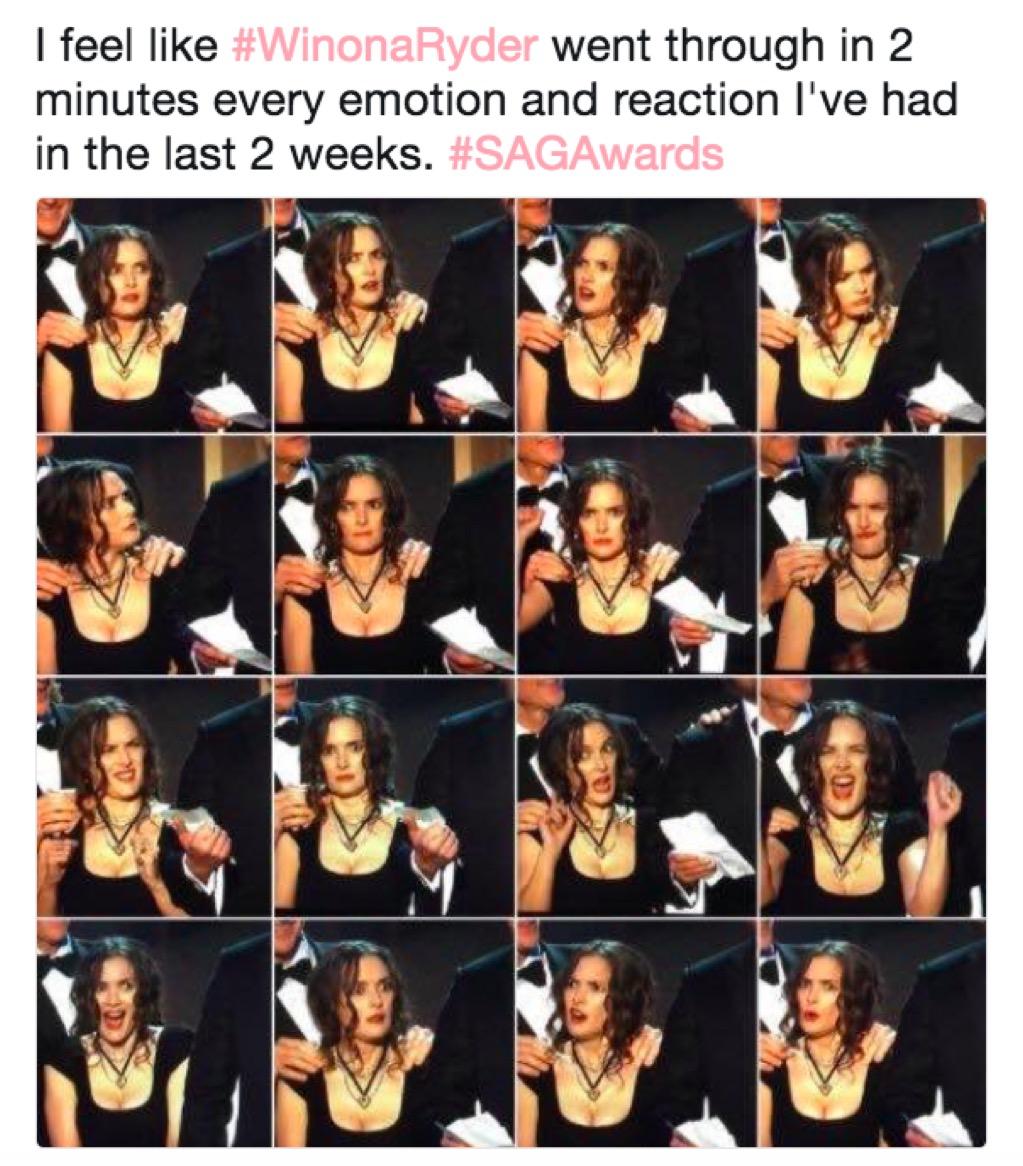 Winona Ryder's face