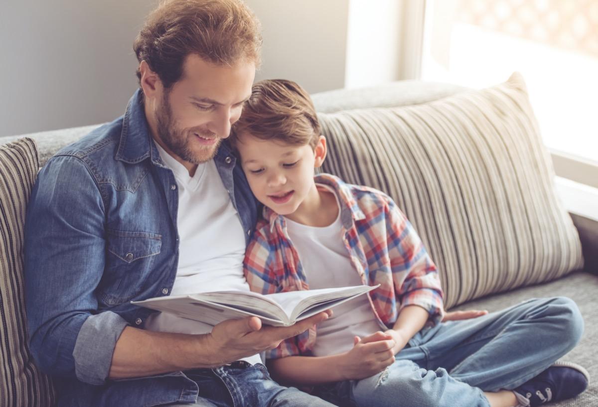 father son bonding through a book