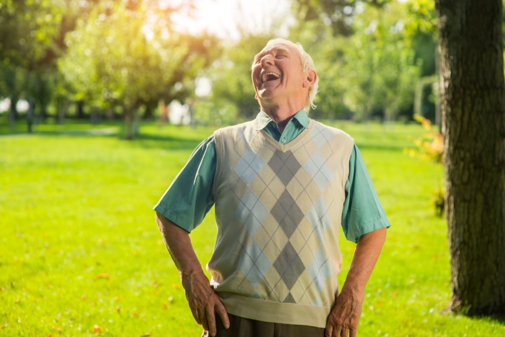 older man laughing crazy health benefits of laughter