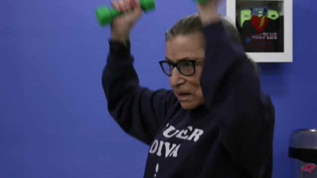 ruth bader ginsburg works out in neflix trailer