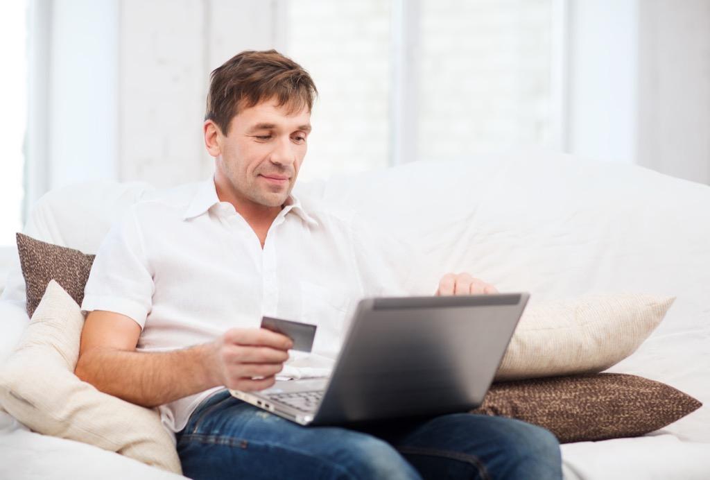 man online shopping Never Buy
