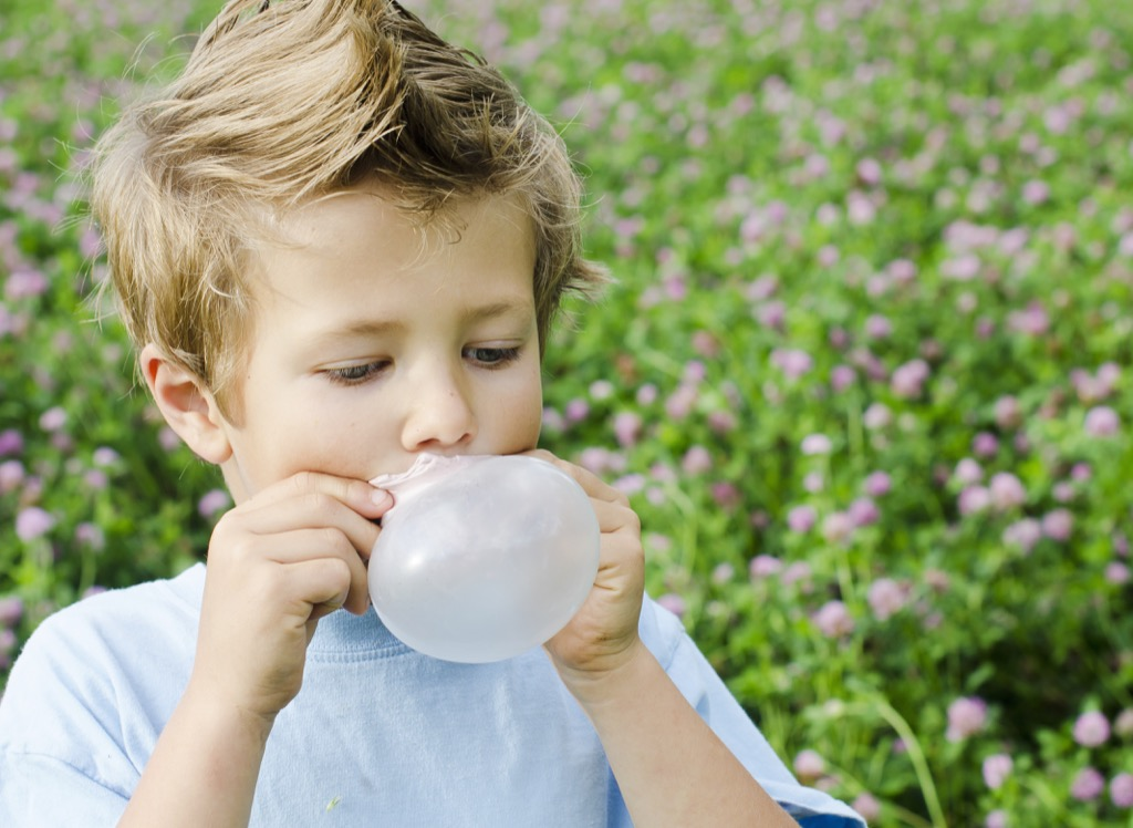 kid chewing gum outdated life lessons  - old wives' tales