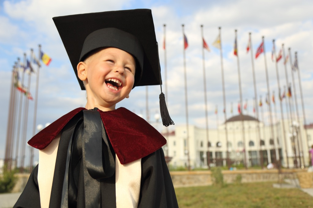 kid in graduation gear outdated life lessons
