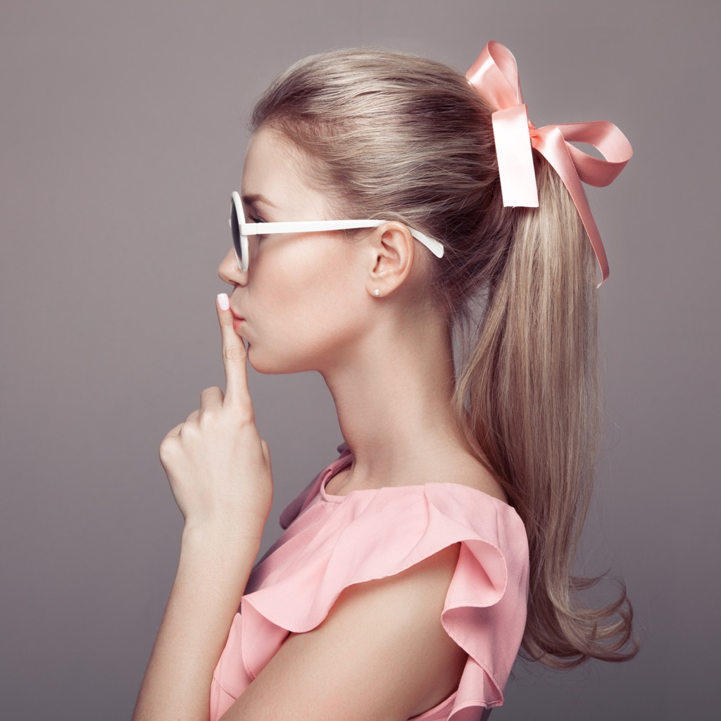 women with hair bow Never Buy