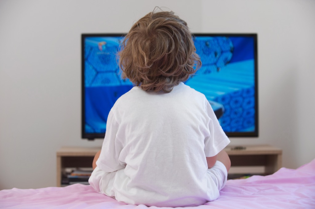 kid watching tv outdated life lessons