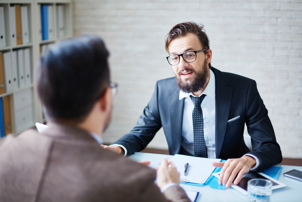 men in a meeting, facts about the lottery