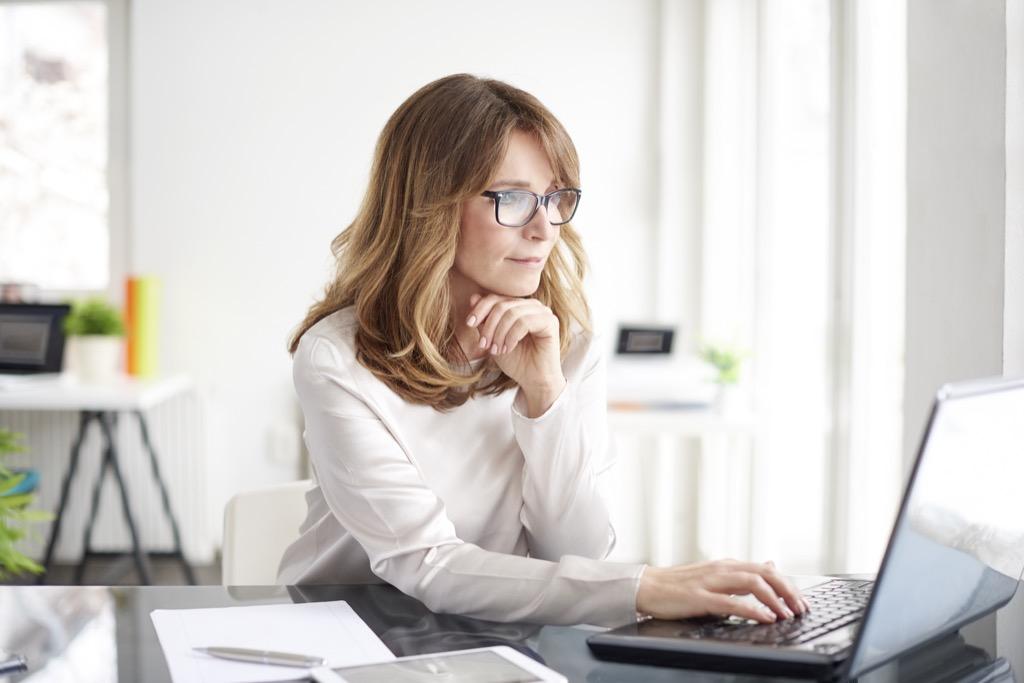 Women Typing Life Easier