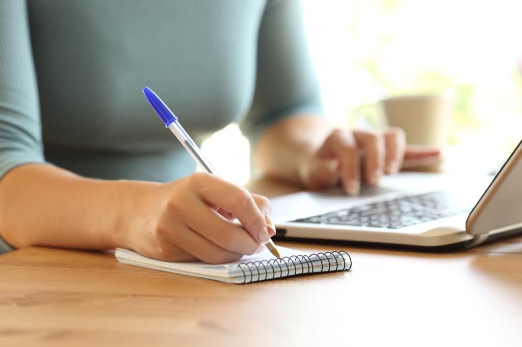 Woman writing Life Easier