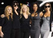 """The Spice Girls at Los Angeles International Airport where they named a Virgin Atlantic 747 """"Spice One"""". December 12, 2007 Los Angeles, CA"""