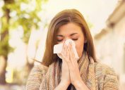 woman allergies spring
