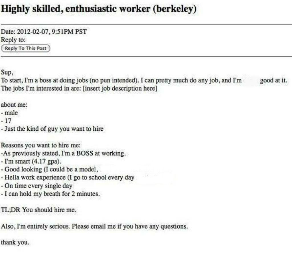 A very braggy resume