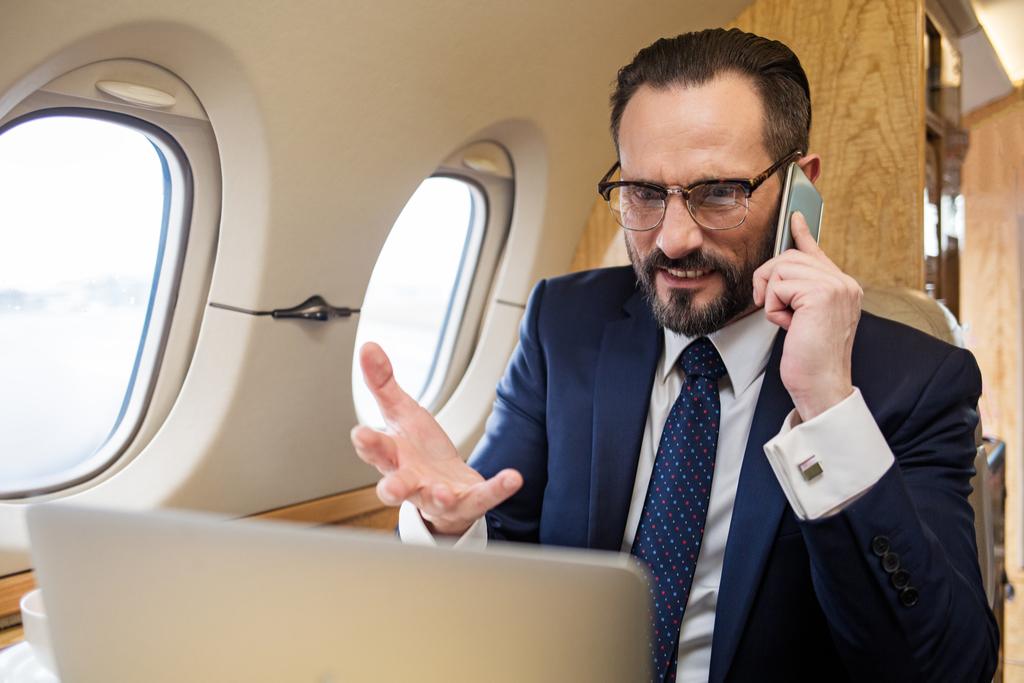 Angry Man on Plane