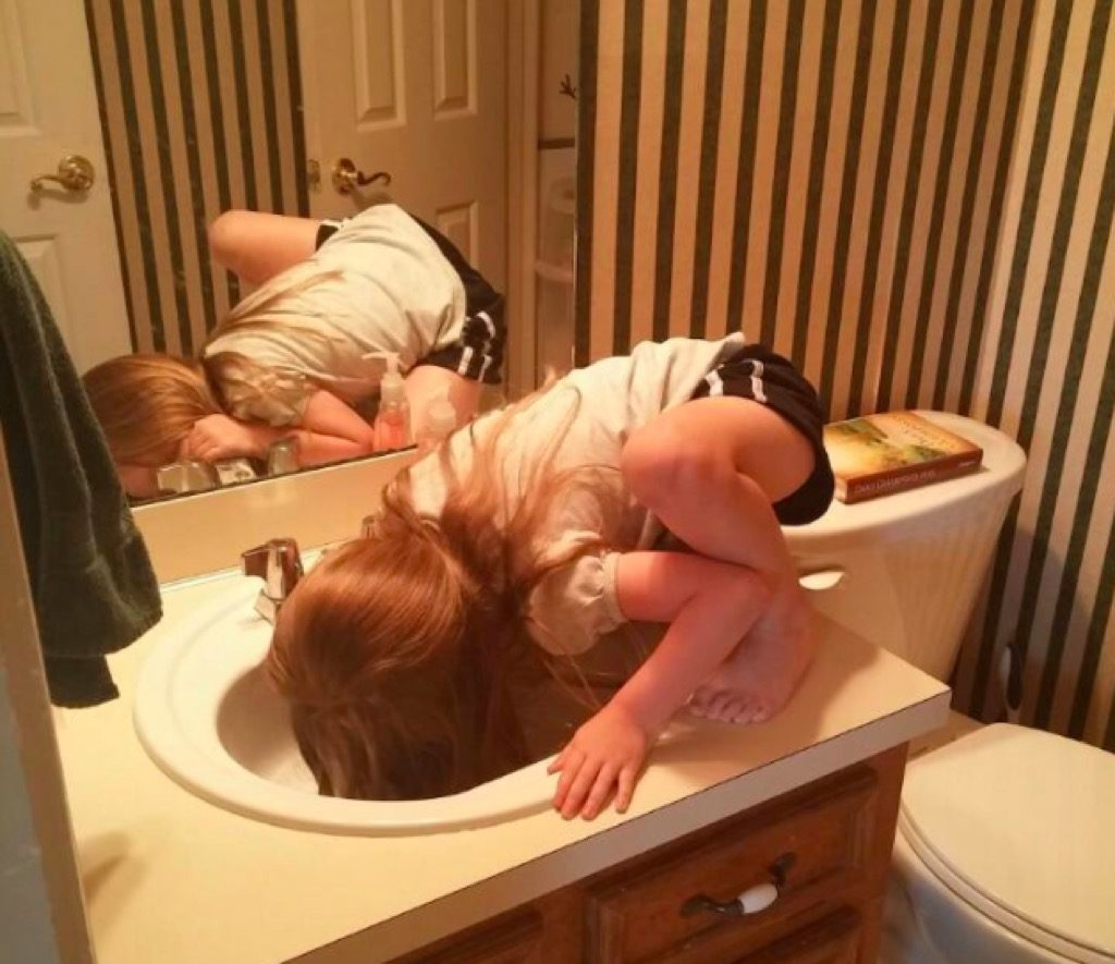 Kid in sink funny kid photos