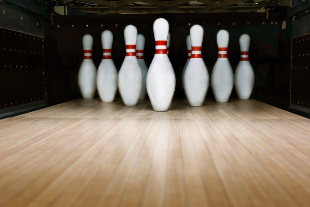 bowling pins, date night ideas
