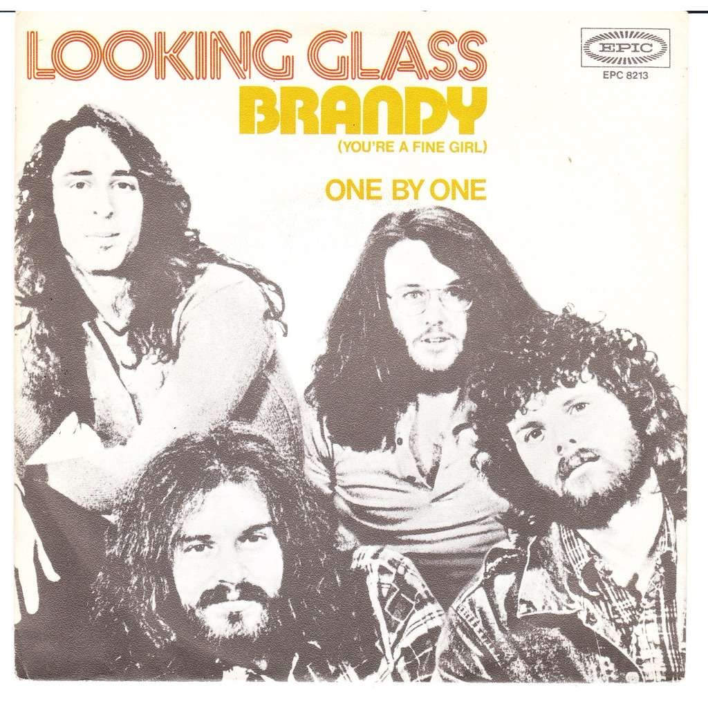 """Looking Glass """"Brandy You're a Fine Girl"""" single cover"""