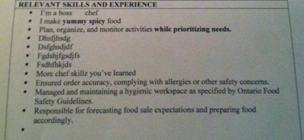 Flabbergasted resume