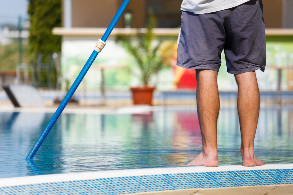 Cleaning Pool Summer