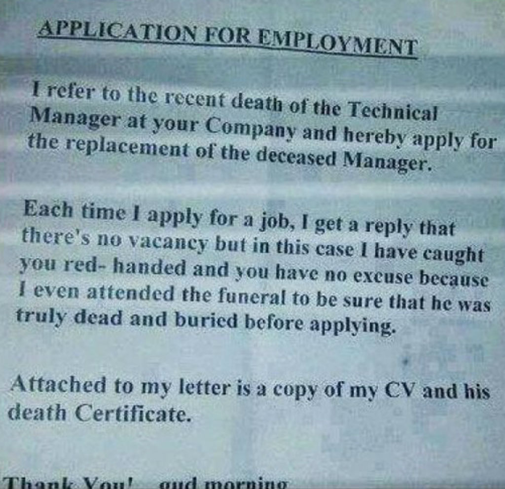Proof of death resume