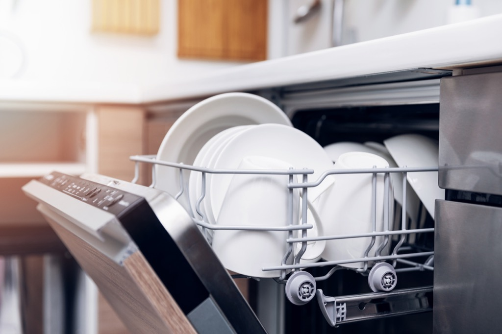 Dish washer with clean dishes