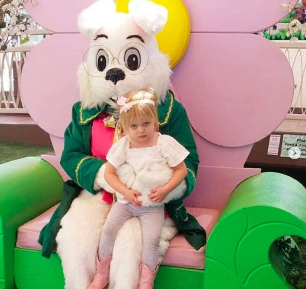 Easter bunny funny kid photos