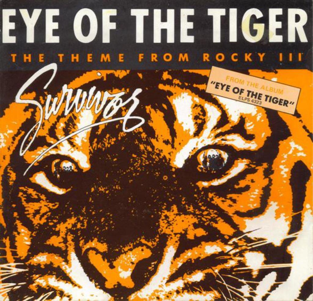 """Survivor """"Eye of the Tiger"""" single cover"""