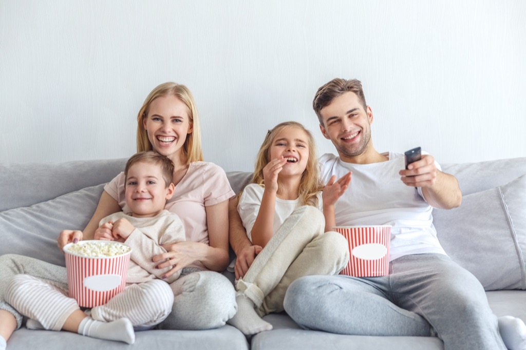 Family laughing together crazy health benefits of laughter