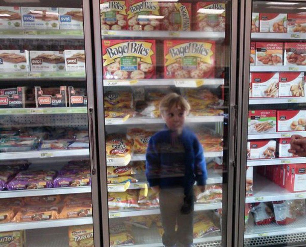 Kid in freezer funny kid photos