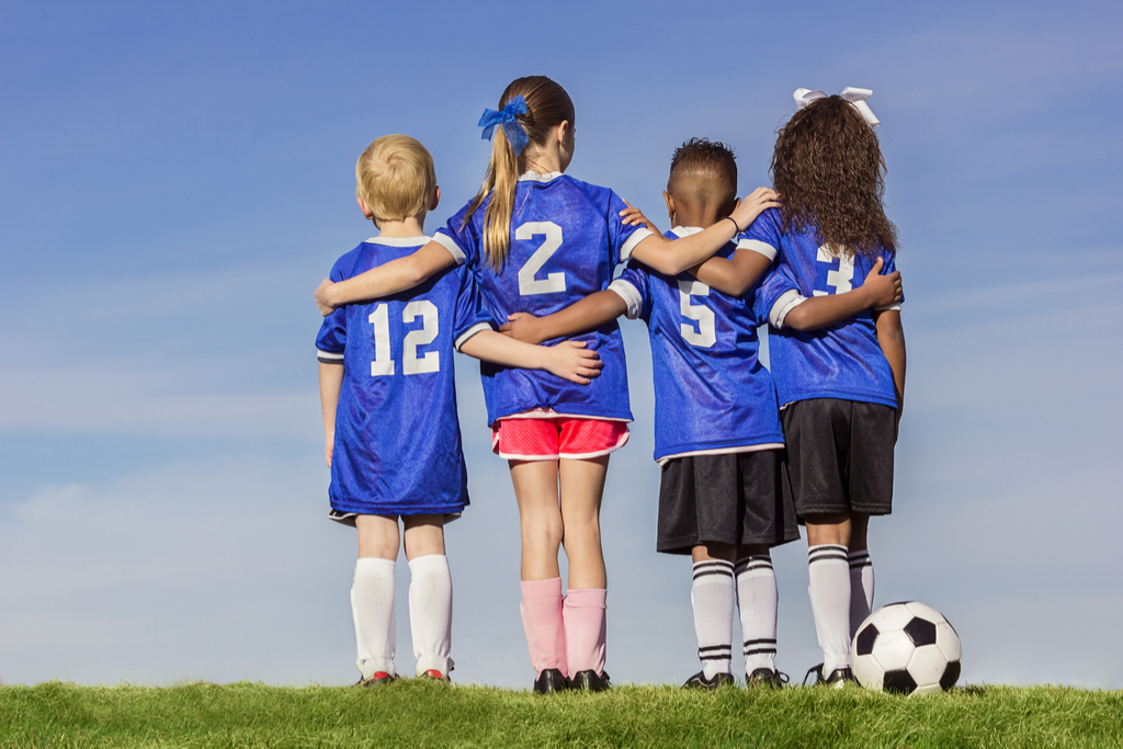 Girl Playing Soccer Daughter