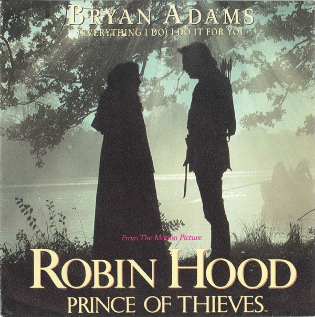"""Bryan Adams """"(Everything I Do) I Do It for You"""" single cover"""