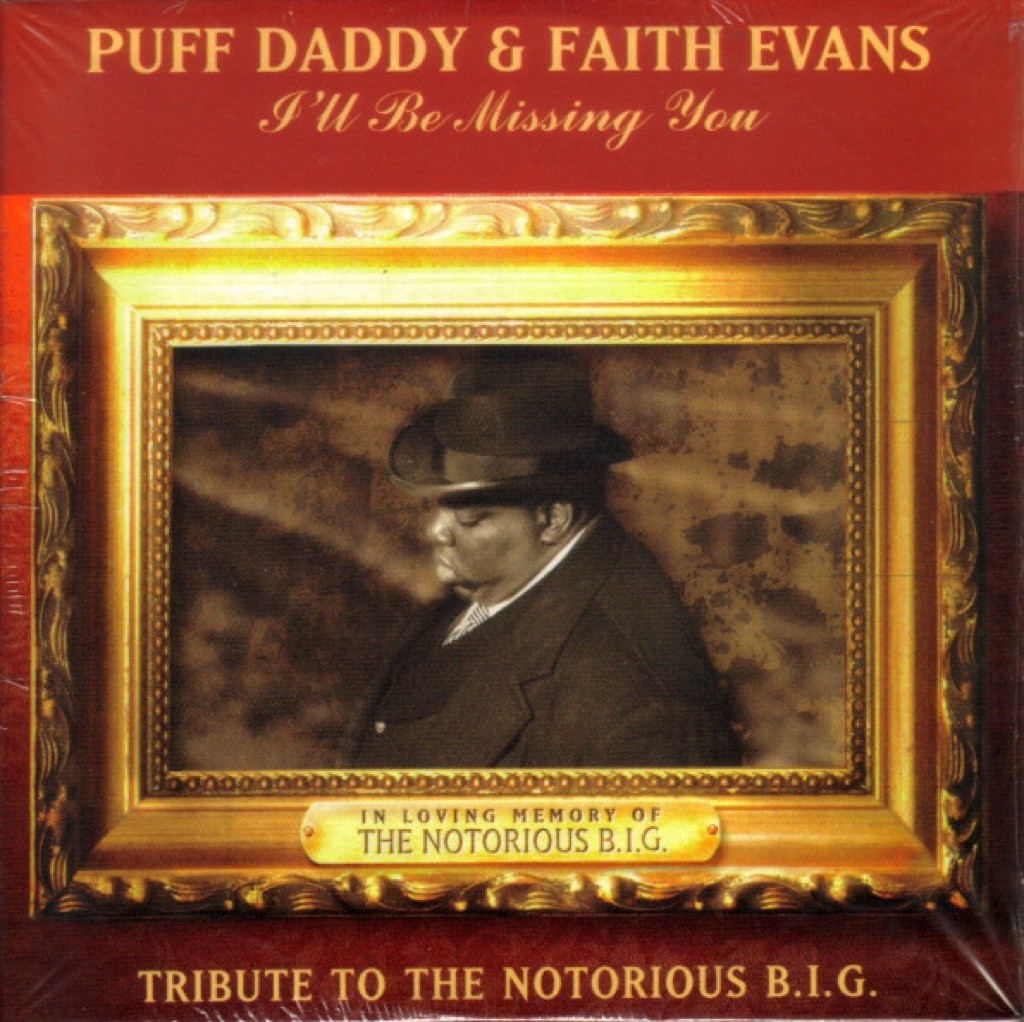 """Puff Daddy and Faith Evans """"I'll Be Missing You"""" single cover"""