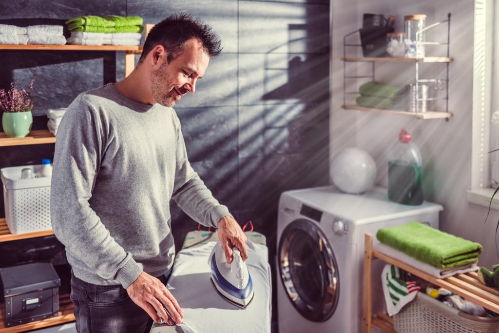Man Ironing Clothes Corny Jokes