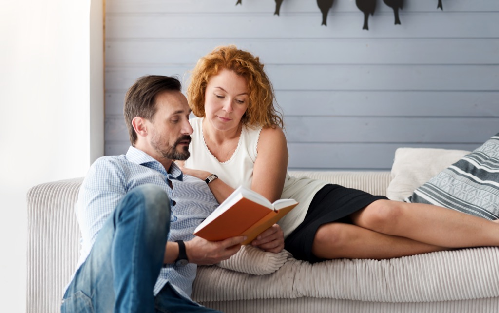 Man Reading Poems to Woman, healthy sex after 40