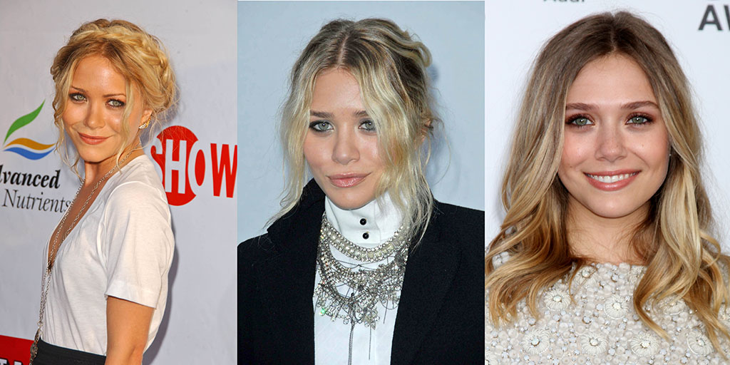 Mary-Kate, Ashley and Elizabeth Olsen Celebrity Siblings