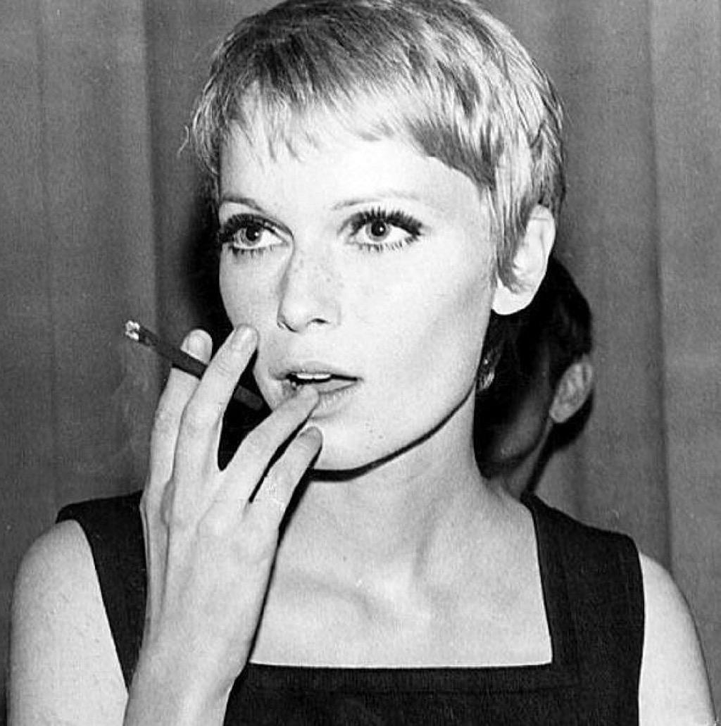 Mia Farrow's iconic haircut