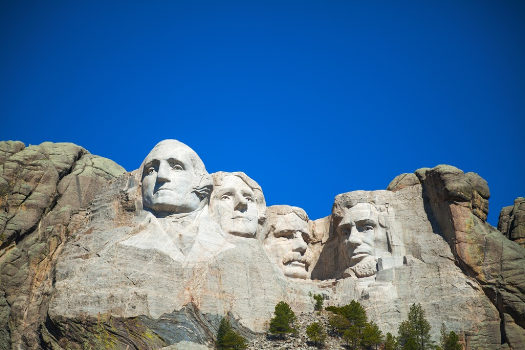 Mount Rushmore South Dakota most historic location every state