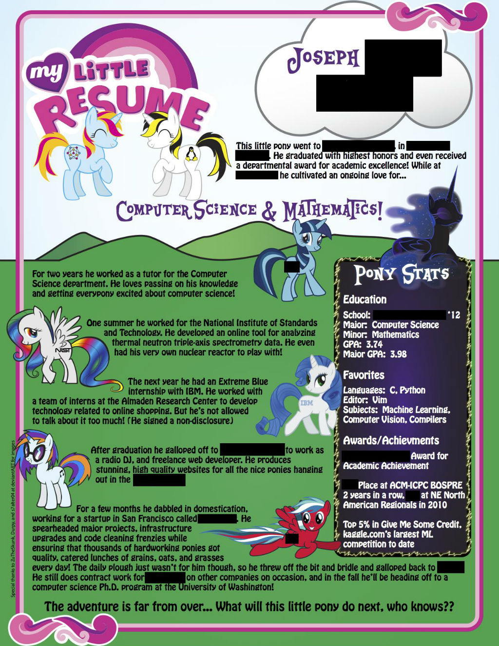 My Little Pony Resume