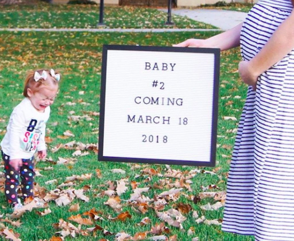Sad baby announcement funny kid photos