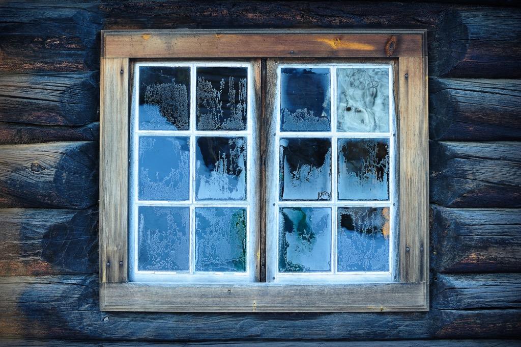 Painted windowframe