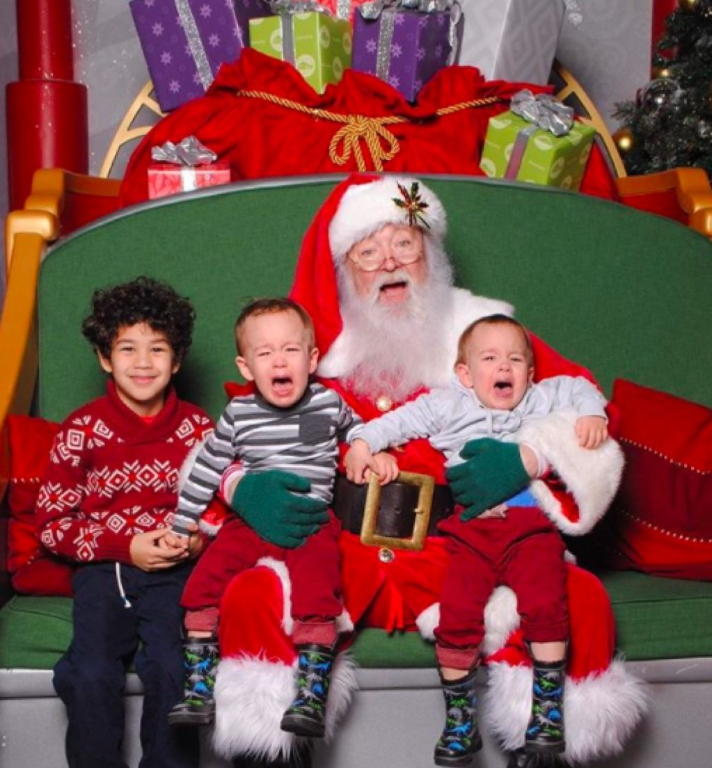 Sad Santa funny kid photos