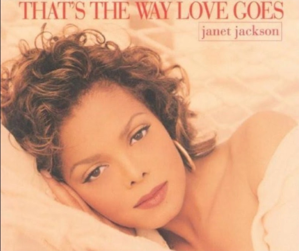 """Janet Jackson """"That's the Way Love Goes"""" single cover"""