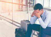 Sick Man at Airport Plane