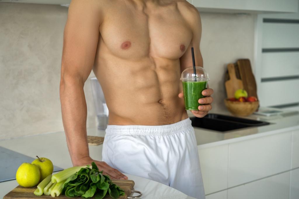 Tan Man Eating Vegetables Random Facts
