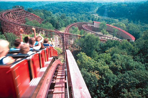 The Beast Roller Coasters